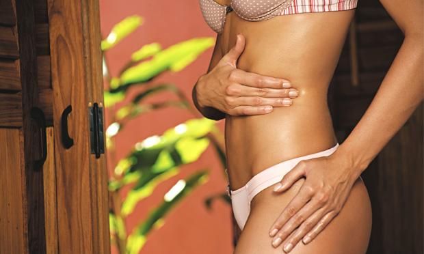 Massagem modeladora caseira