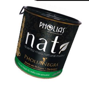 O Nati PholiaNegra, da Pholias (R$ 140, 250 g), é um mix de ervas que dá uma força na queima de gordura. Uma dose (5 g, 9 calorias) por dia, diluída em 1 copo de água, promete reduzir até 10% do sobrepeso em um mês.