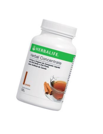O Herbal Concentrate Canela, da Herbalife, também acelera o metabolismo. Basta 1/2 colher de chá do pó  (6 calorias) em 1 copo de água fria ou quente  (R$ 194 o frasco – rende 59 porções). Adoçado com estévia.