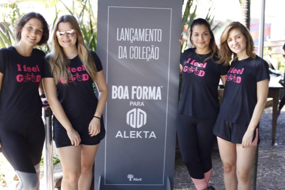 Equipe da BOA FORMA: Daniela Bernardi, editora de fitness; Juliana Diniz, redatora-chefe; Nelize Dezzen, editora de estilo; e Luiza Monteiro, repórter do site