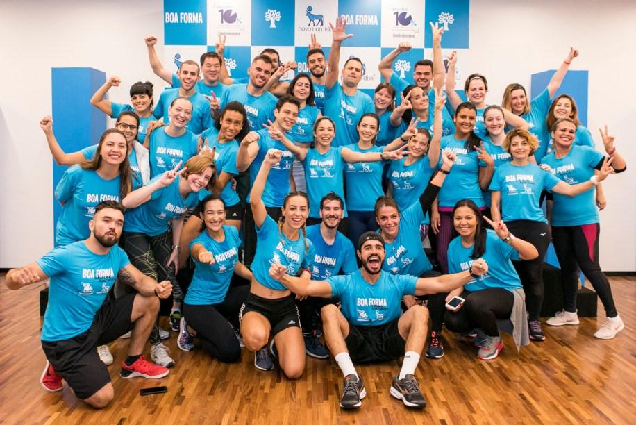 Parceria de sucesso entre Boa Forma e Nova Nordisk termina com alunos felizes (e suados!)