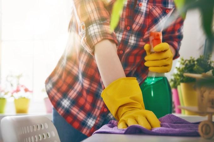 mulher-limpando-casa