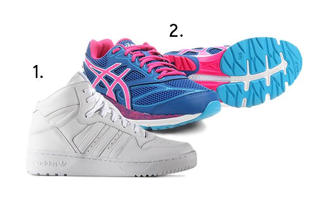 "1.<span style=""font-weight:400;"">Tênis M Attitude Revive, <a href=""https://www.adidas.com.br/tenis-m-attitude-revive/S75197.html"" target=""_blank"" rel=""noopener"">Adidas Originals</a>, de R$ 450 por R$ 200; 2.</span><span style=""font-weight:400;"">Tênis <a href=""https://www.asics.com.br/tenis-asics-gel-pulse-8-a-feminino-pink+preto-D18-1405-492#features"" target=""_blank"" rel=""noopener"">Asics</a> Gel Pulse 8, para corrida, de R$ 450 por R$ 349 (preços pesquisados em janeiro de 2018).</span><span style=""font-weight:400;""></span>"
