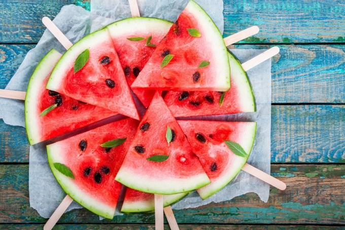 pedaços-melancia