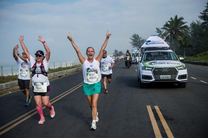 Corredoras na Wings For Life World Run 2018 no Rio de Janeiro