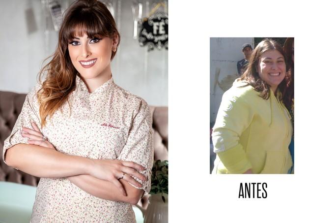 Antes e depois chef Alê Peruzzo