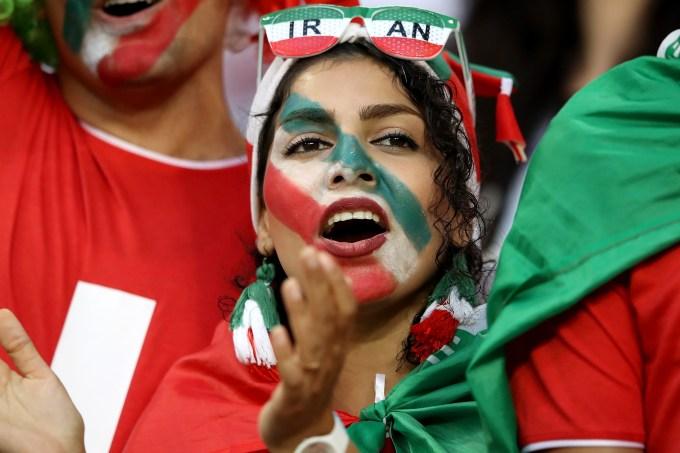 Torcedora Iraniana na Copa do Mundo 2018