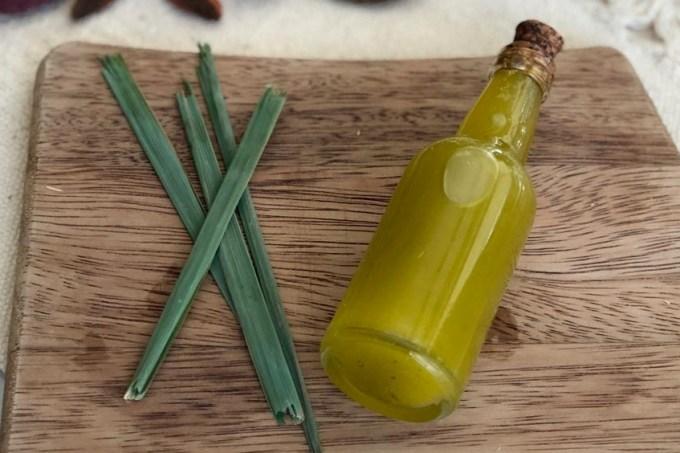 azeite aromatizado de capim-limão