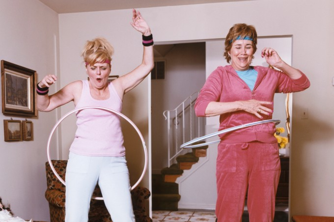 Two Women Hula Dancing