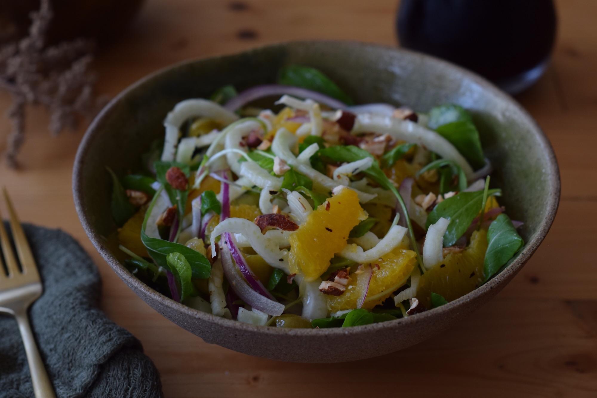 receita de salada de erva-doce com laranja
