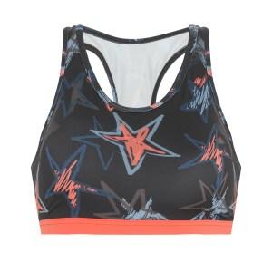 top feminino esportivo ace estampado de estrelas decote nadador com bojo removível