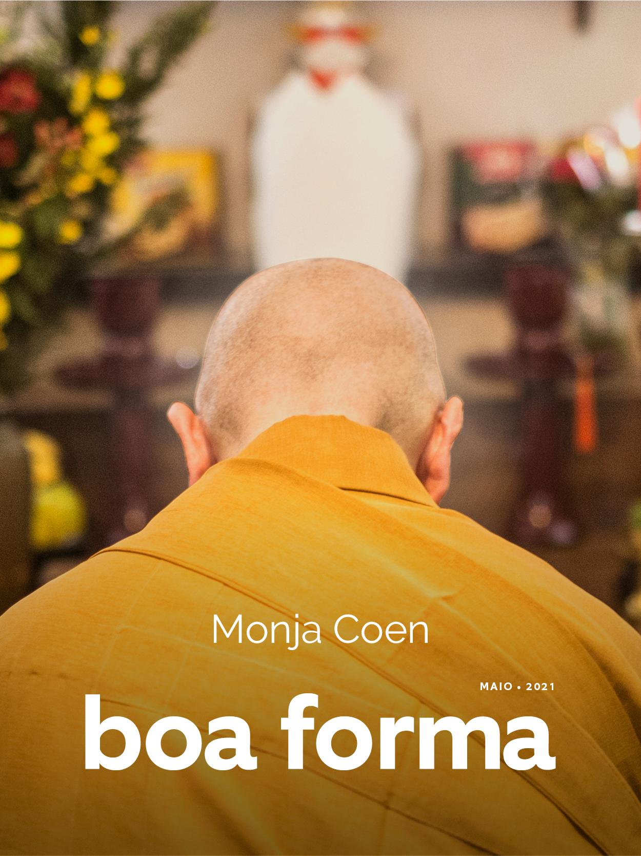 Monja Coen: capa da edição de maio de BOA FORMA