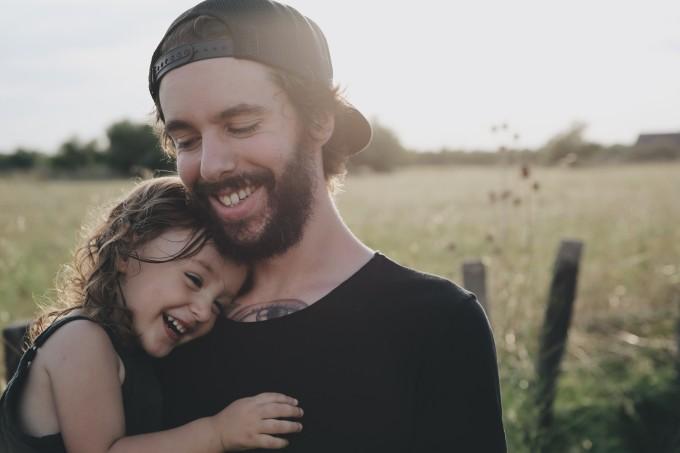 Felicidade pai e filha