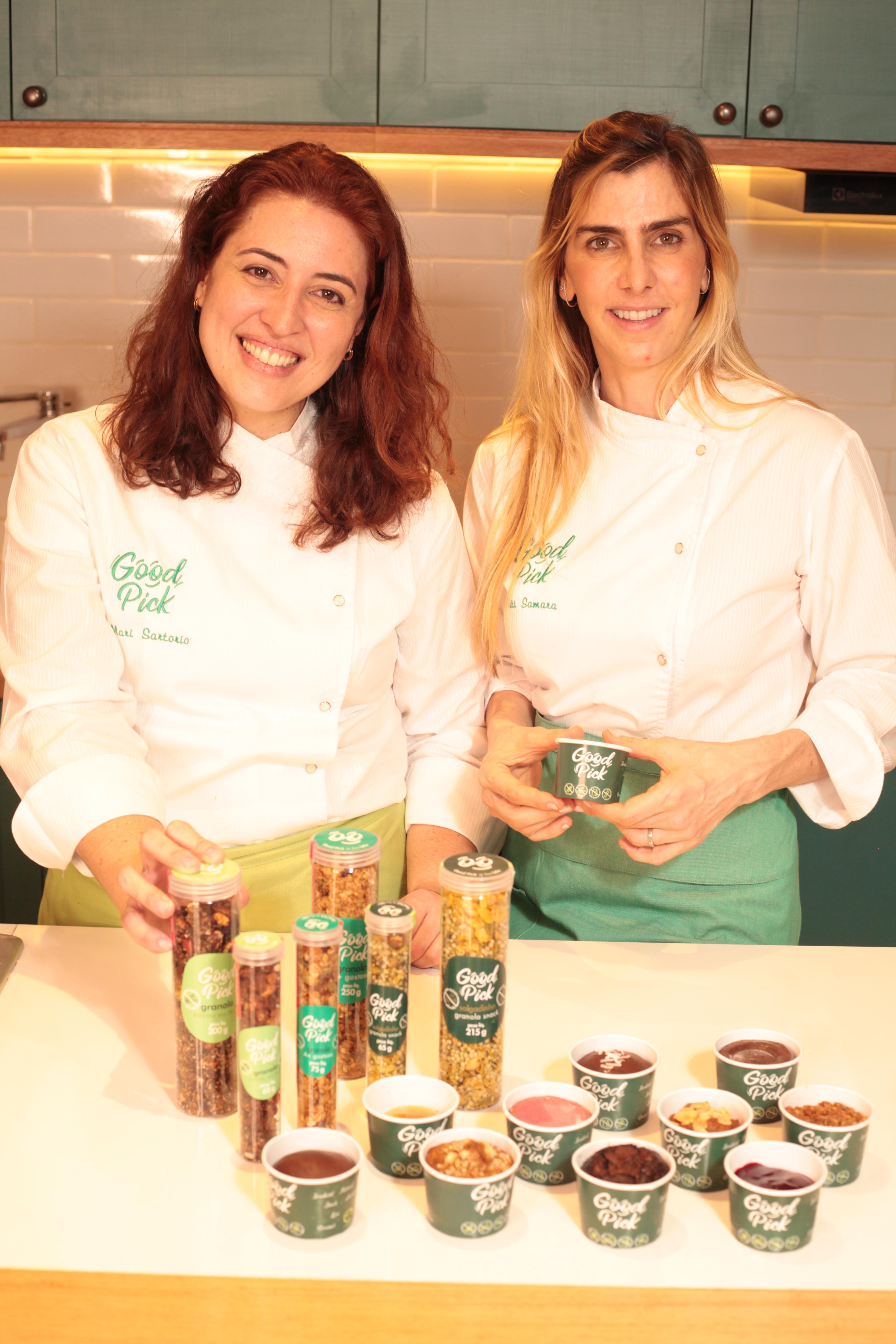 Mari Sartori e Tatiana Samara: sócias da Good Pick, especializada em produtos sem açúcar refinado, trigo e lactose
