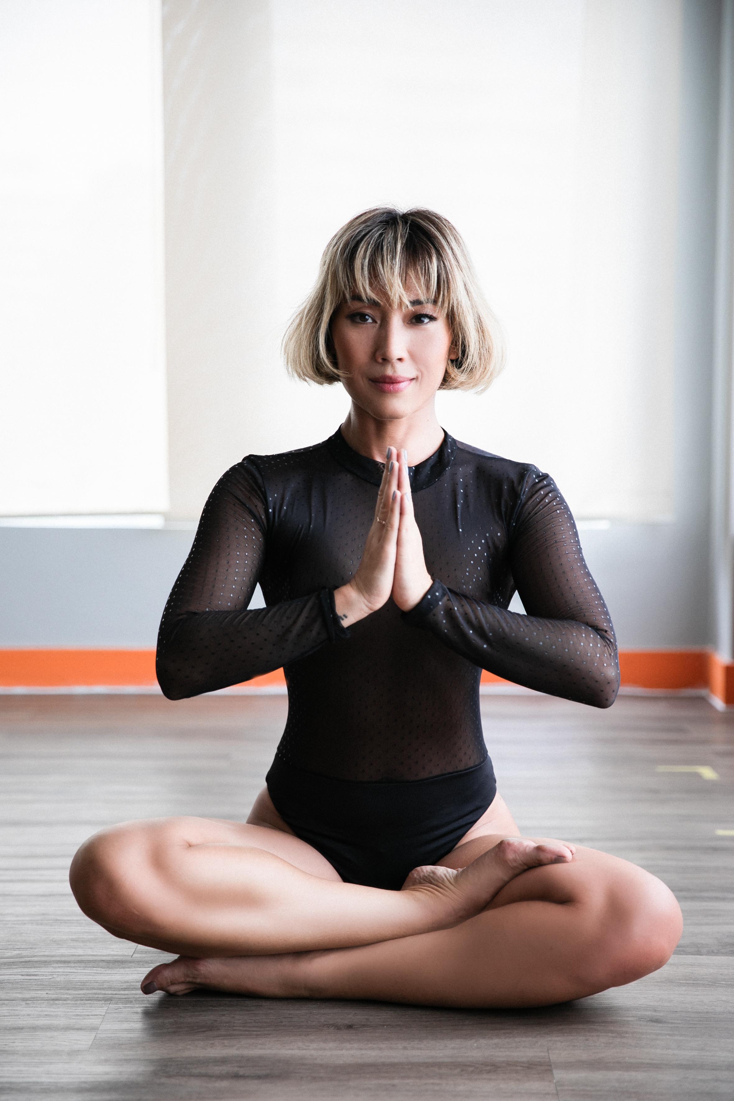 Em busca do centro: Danni procura meditar ao menos 20 minutos toda manhã