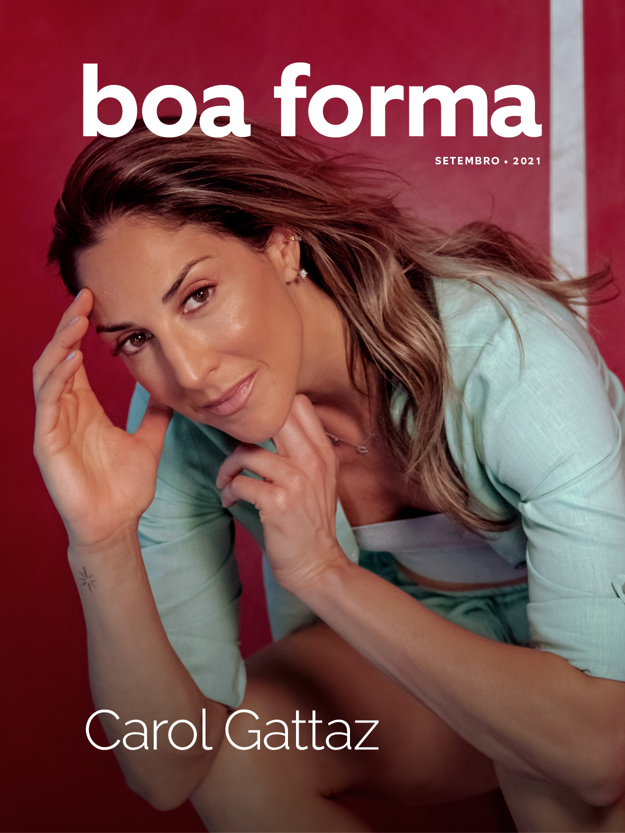 Carol Gattaz: capa da Boa Forma de setembro